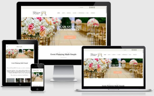 web design sample 3 event planning