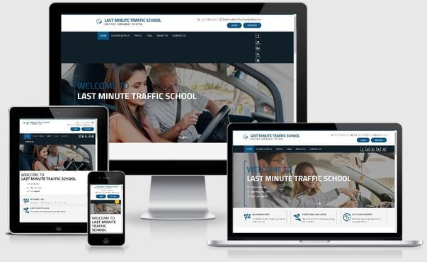 web design sample 4 traffic school