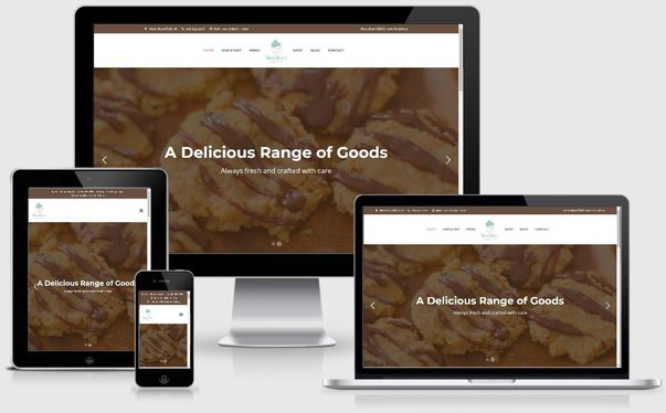 web design sample 6 bakery