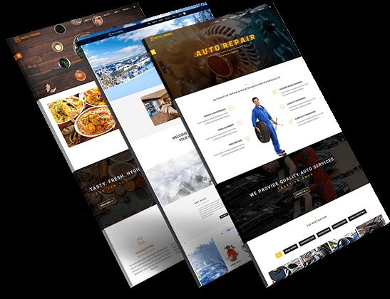 web design portfolio left side