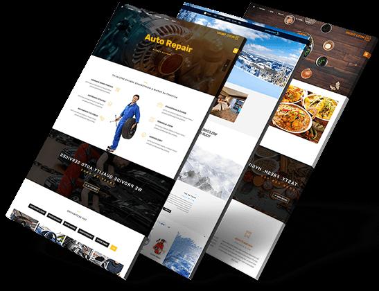 web design portfolio right side