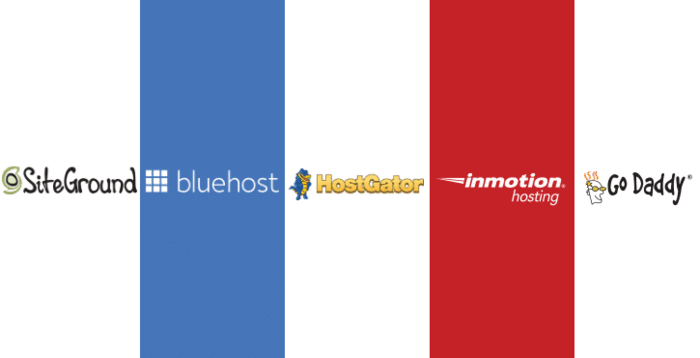SiteGround-vs-Bluehost-vs-HostGator-vs-InMotion-vs-GoDaddy