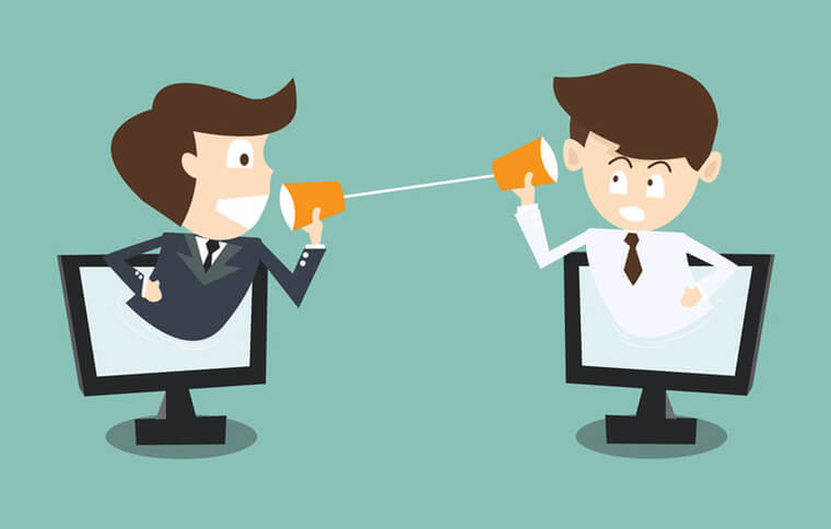 communcation between client and business