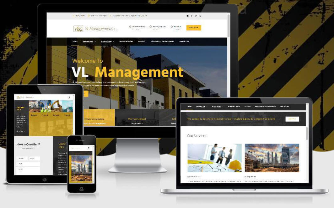 web design construction lg