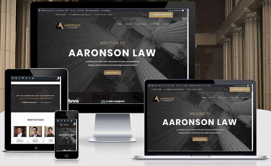 law web design